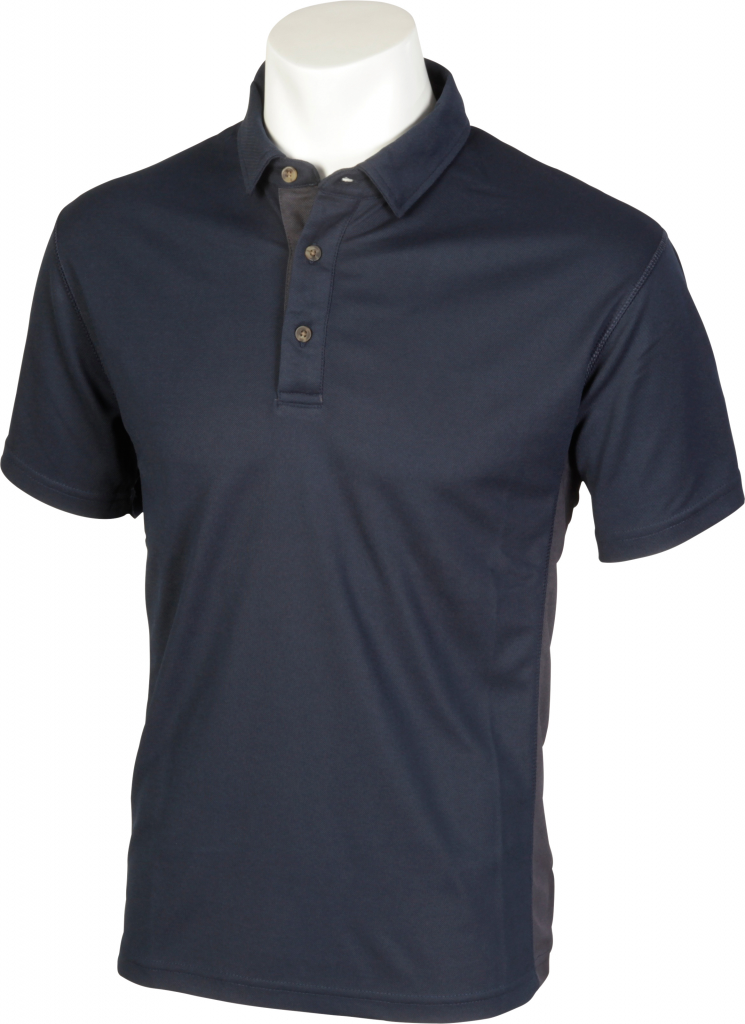 Glenwear Cuillin Unisex Breathable Polo Shirt - XXL Navy/Grey