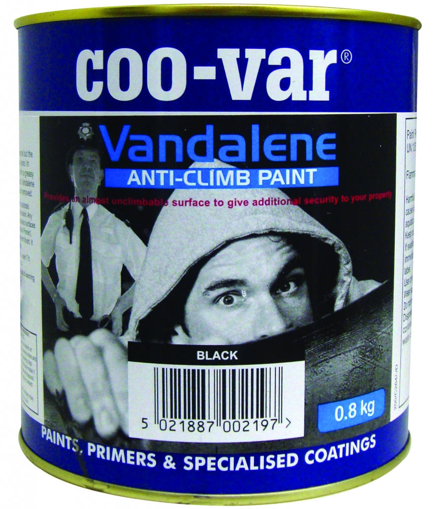 Coo-Var Vandalene Anti-Climb Paint - Black - 2.0kg