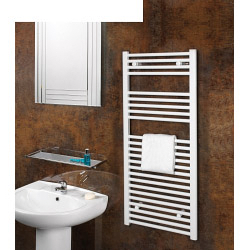 SupaPlumb Chrome Straight Towel Rail - 600 x 1200mm