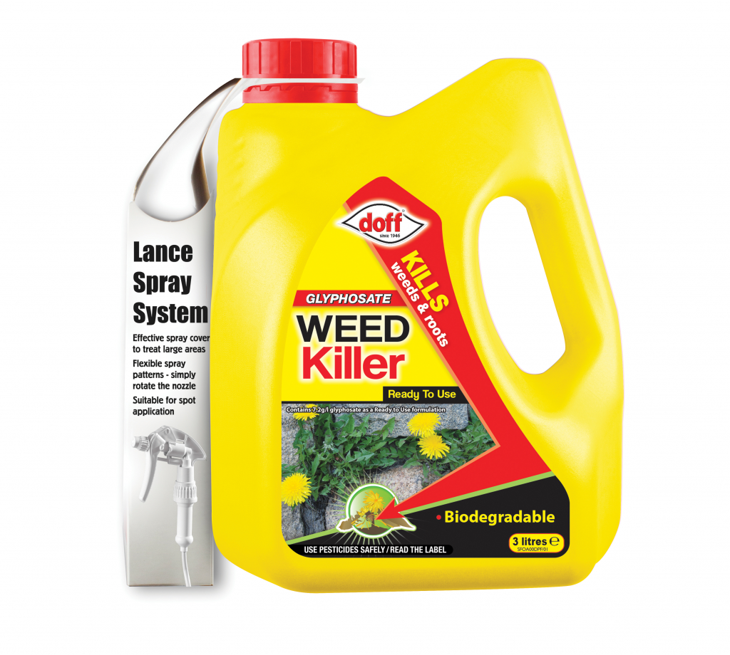 Doff Knockdown Weedkiller - 3L