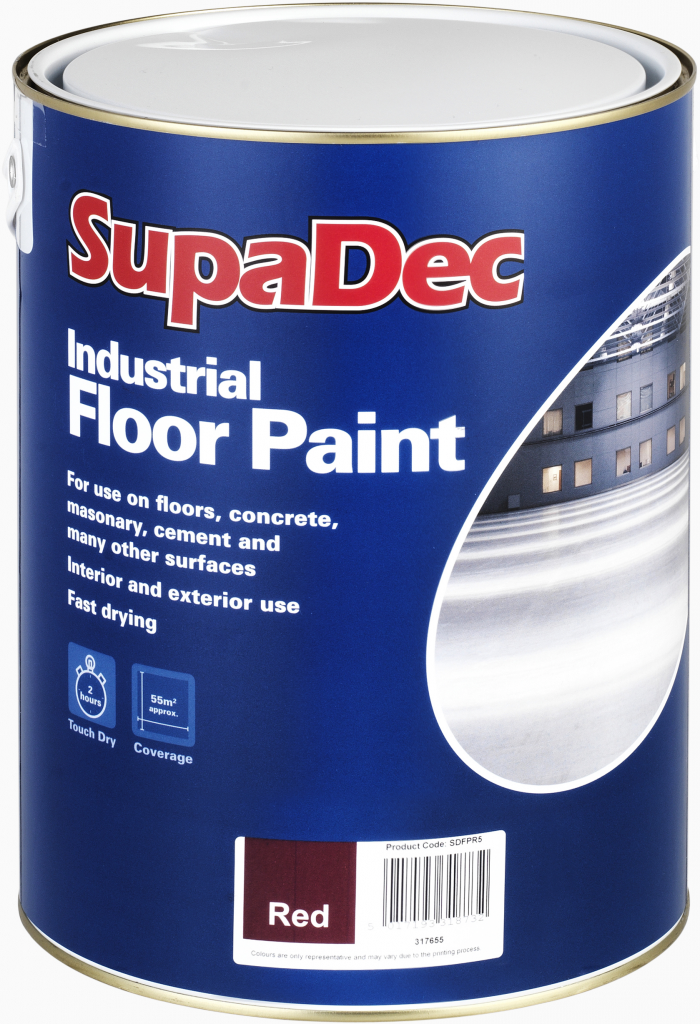 SupaDec Industrial Floor Paint 5L - Tile Red