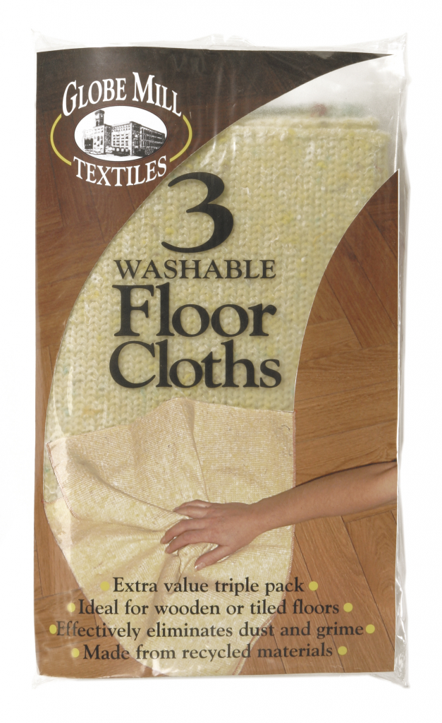 Globe Mill Textiles Washable Floor Cloths - 3 Pack