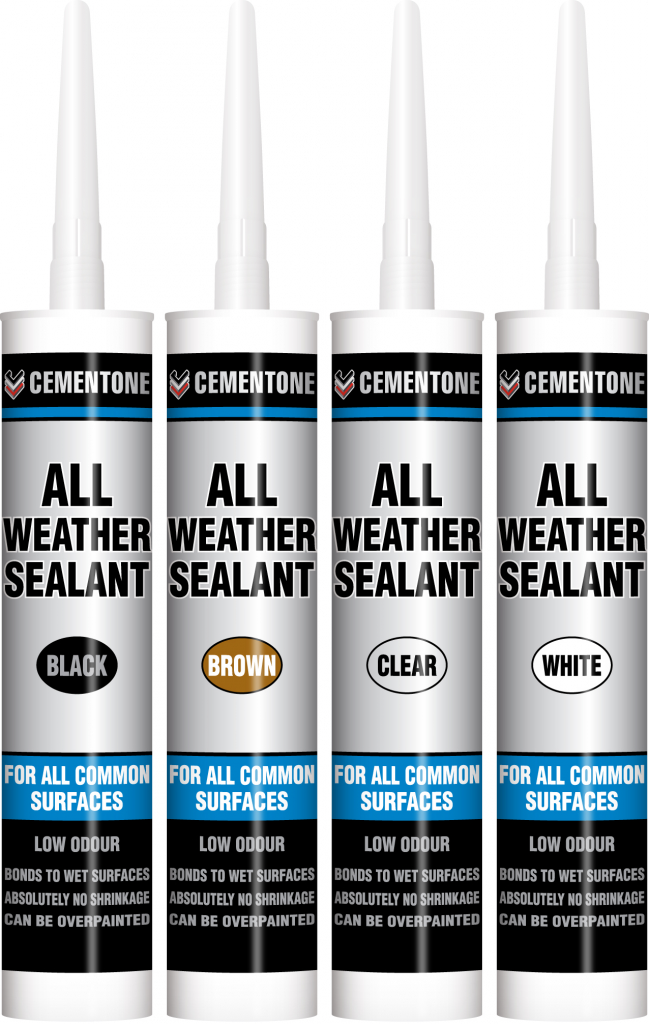 Evo-Stik All Weather Sealant - 300ml Cartridge - Black