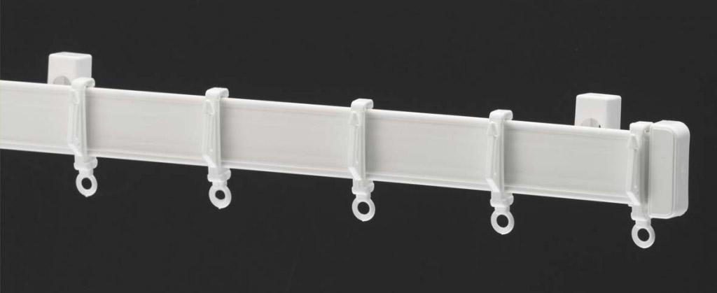 Harrison Drape Standard Drape Curtain Track - 180cm White