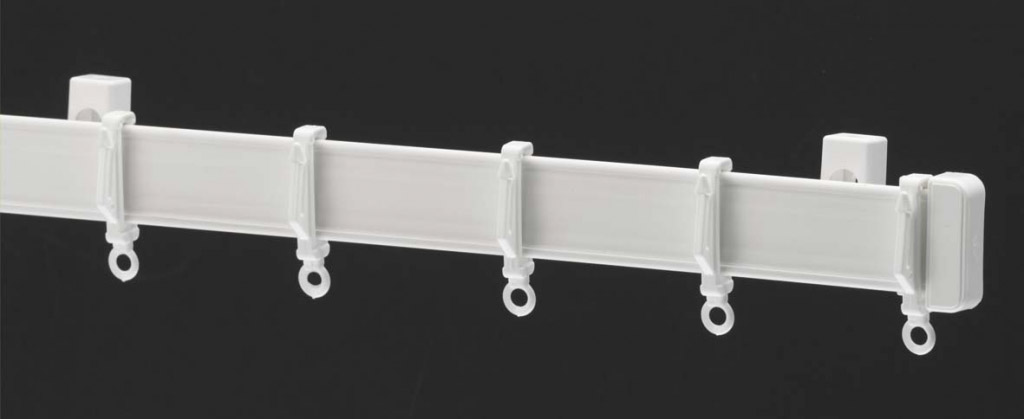 Harrison Drape Standard Drape Curtain Track - 240cm White