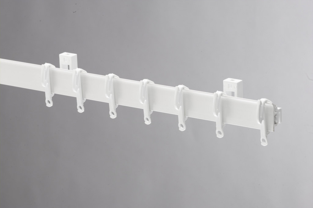 Swish Sologlyde PVC Curtain Track - 150cm White