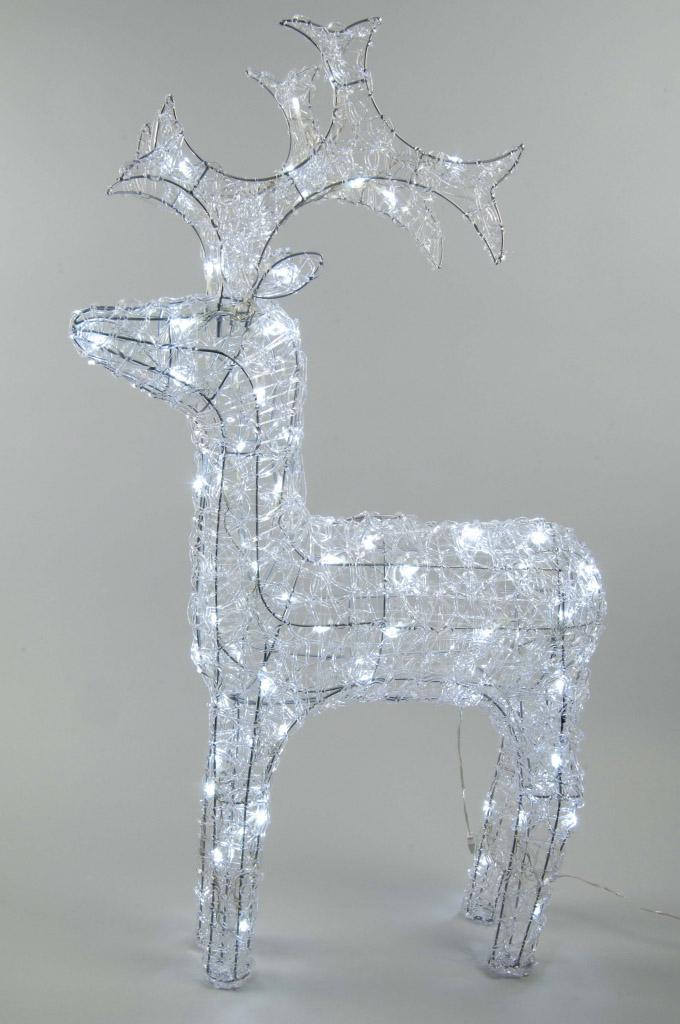 Kaemingk LED Outdoor Acrylic Reindeer - 90cm Cool White