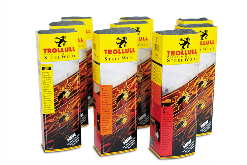 Trollull Steel Wool Grade 0000 - 200g Sleeves