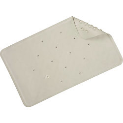 Croydex Rubagrip Bath Mat - White - Medium - 740mm x 340mm