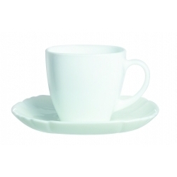 Luminarc Lotusia Cup & Saucer White