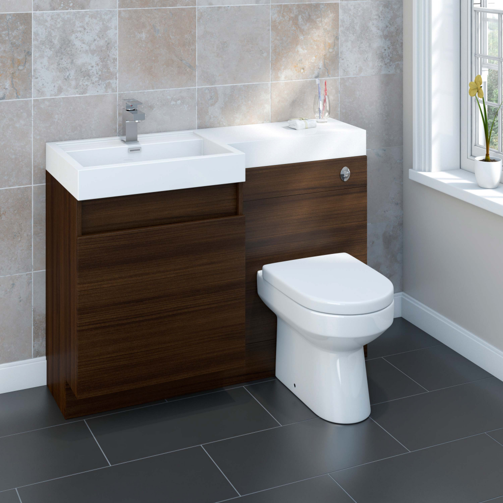 Sp Ashdown Walnut Vanity Unit 1200mm Stax Trade Centres