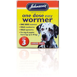 Johnsons Vet One Dose Easy Wormer Size 3 - 4 x 500mg Tablets
