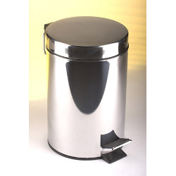 Kingfisher Pedal Bin Stainless Steel - 5L
