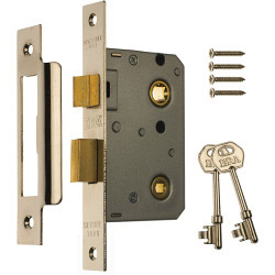 Era Bathroom Locks 76mm - Finish: Chrome Effect