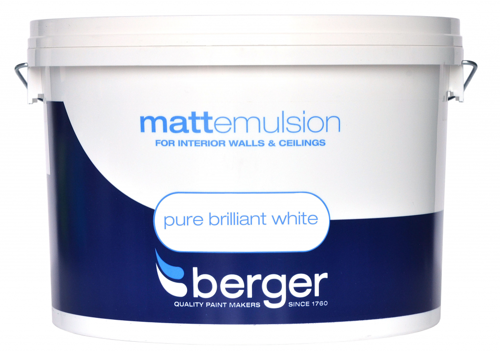 Berger Vinyl Matt 10L - Pure Brilliant White
