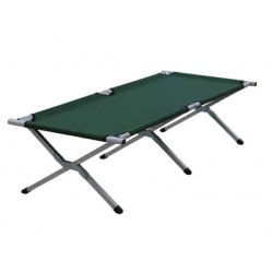 Yellowstone Folding Camp Bed - Aluminium Framed