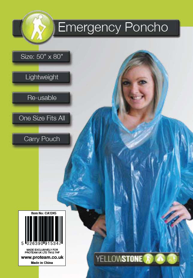 Yellowstone Emergency Poncho Blue