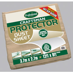 Rodo Craftsman Protector Dust Sheet - Size 3.6 x 2.7m (12' x 9')