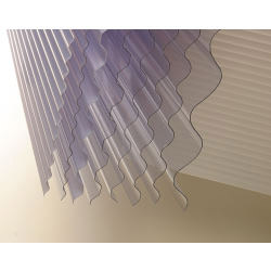 "Vistalux Lightweight Clear Corrugated PVC - 3"" x 30 x 6ft (1830mm)"