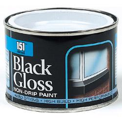 151 Coatings Gloss Non-Drip Paint - 180ml Black