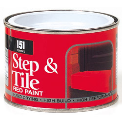 151 Coatings Step & Tile Paint - 180ml Red