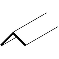 Easyfix 12.5mm Angle - 12 x 2.44m - Black