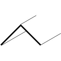 Easyfix 38mm Angle - 12 x 2.44m - White