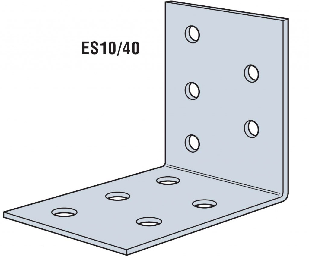 Simpson Strong Tie Nail Plate Angle Bracket - 60 x 60 x 40