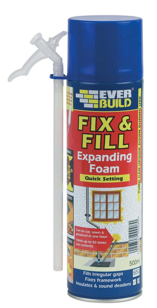 Everbuild Fix & Fill Expanding Foam - 500ML