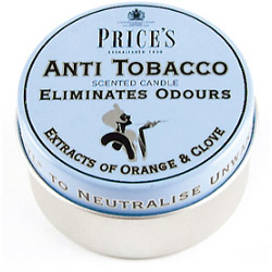 Price's Candles Scented Tin - Anti Tobacco