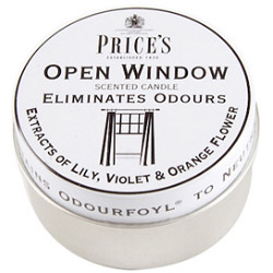 Price's Candles Scented Tin - Open Window