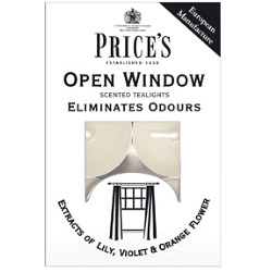 Price's Candles Tealights Pack 10 - Open Window