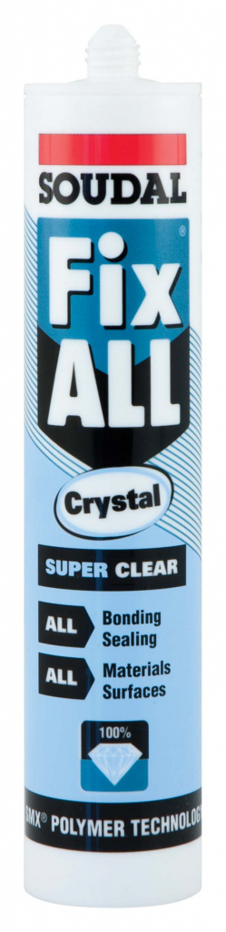 Soudal Fix All Super Strong Sealant/Adhesive - 290ml Cartridge Crystal Clear