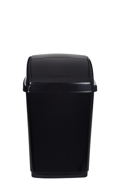 Whitefurze 50L Swing Lid Bin And Base - Black