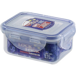 Lock & Lock Food Storage Container - Rectangular - 180ml (110 x 90 x 48mm)