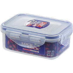 Lock & Lock Food Storage Container - Rectangular - 350ml (137 x 104 x 53mm)