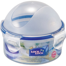 Lock & Lock Food Storage Container - Onion Dome - Round with Domed Lid - 300ml (114 x 93mm)