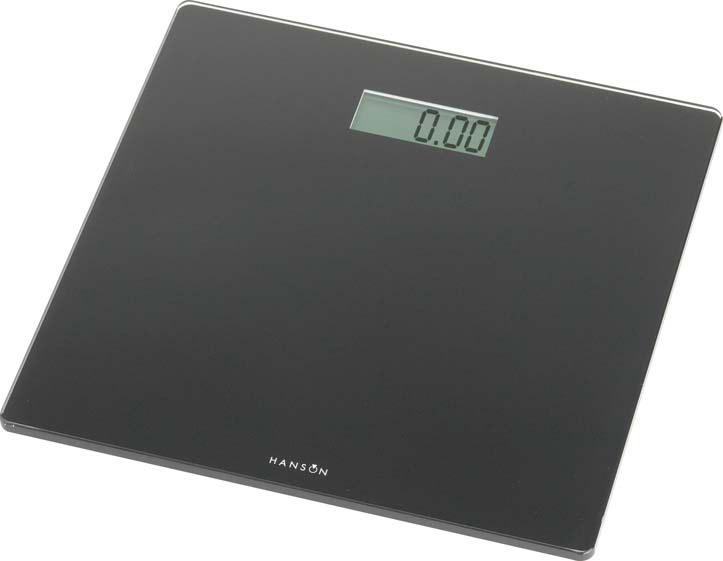 Terraillon Black Glass Electronic Bathroom Scale - Black 150kg
