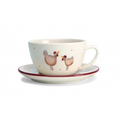 Happy Hens Cup And Saucer