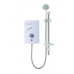 MX Inspiration QI White Chrome Electric Shower