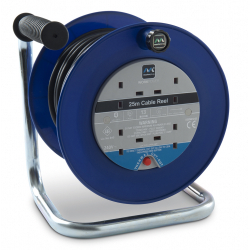Masterplug 25m, 4 Gang Open Cable Reel