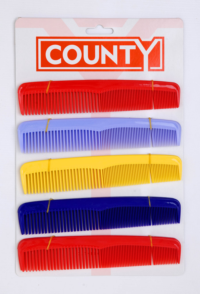 County Dressing Comb - Card 10 7""