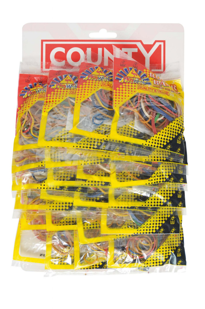 County Rubber Bands - Card 24