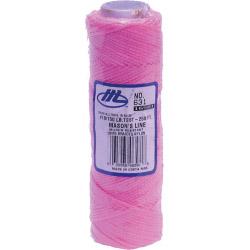 Marshalltown Masons Braided Nylon Line - Fluorescent Pink - 250' (76m)