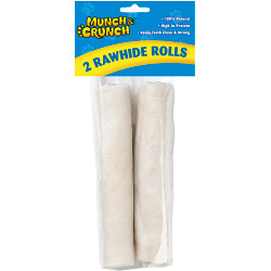 Munch & Crunch Rawhide Rolls - 2 Pack