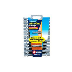 Plasplugs All In One Better Value Fixings - 52 Pack