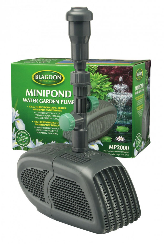 Interpet Minipond Pump 2000 - For Fountains, Filters, Waterfalls and Features