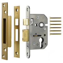 Era Euro Pro-fit Sashlock Case 63mm - Finish: Brass Effect