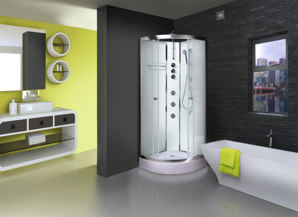 Aqualusso ILock White Shower Cabin - 900mm