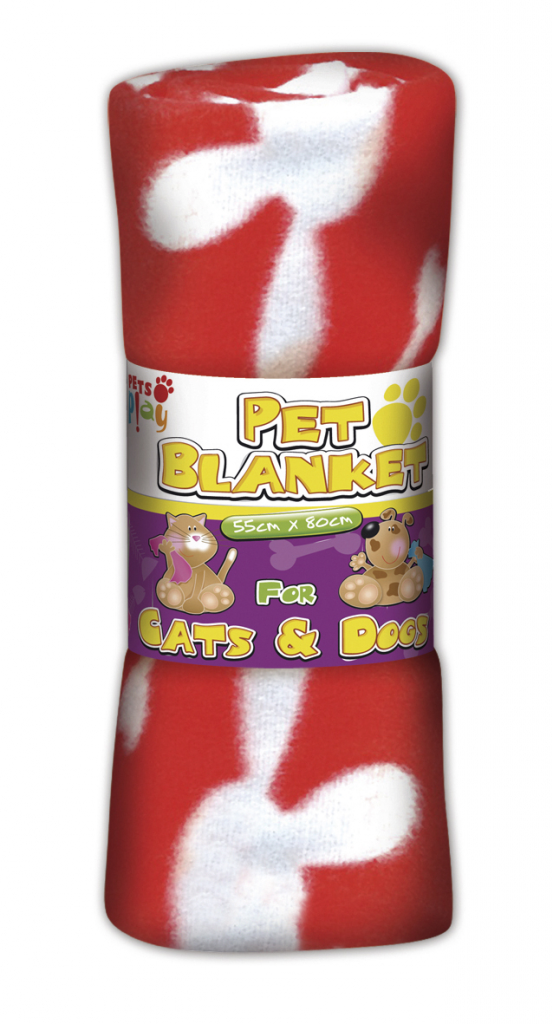 Pets at Play Pet Blanket (Assorted Colours) - 55cm x 80cm
